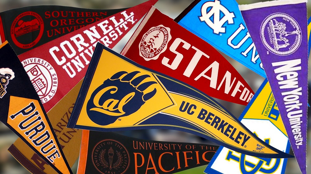 Pennants from other colleges